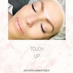 Soft, powdery brows for Stacy!__Touch up