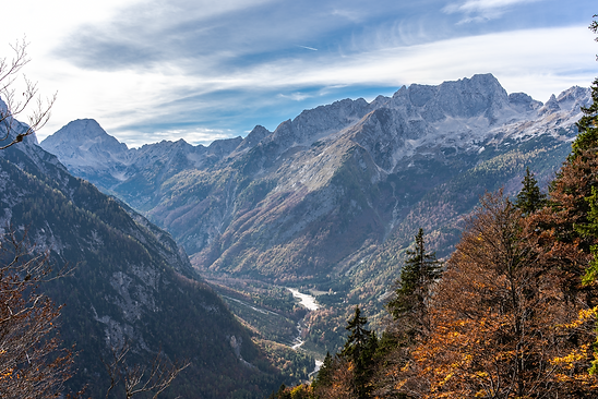 View from Vrsic Pass, Slovenia