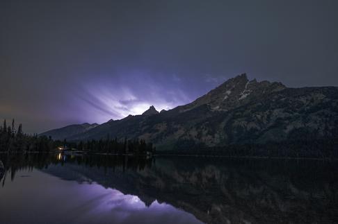 Lightning over the Tetons