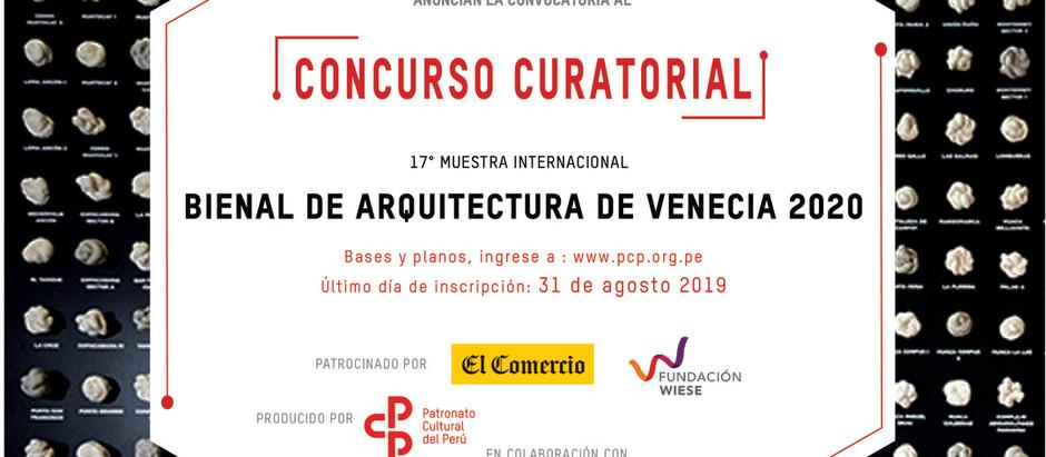 Concurso para el pabellón de Perú en la Bienal de Venecia 2020