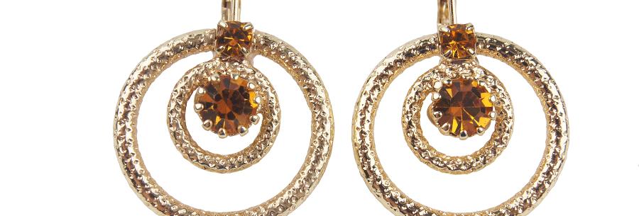 Dual Spiga ring earrings topaz