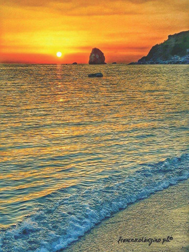 Coastline of Calabria in the sunset