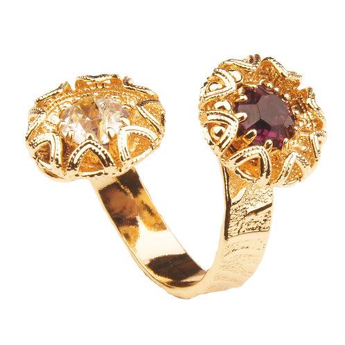 WS Acute Filigree Petal Collection Contrarié Ring
