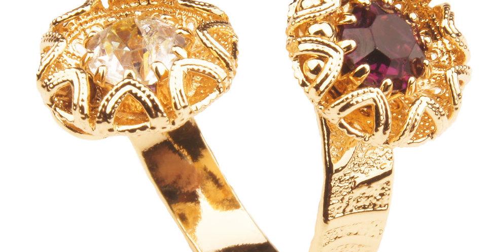 Acute Filigree Petal Collection Contrarié Ring