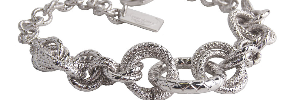 Spiga Ring Element bracelet with round links in gold