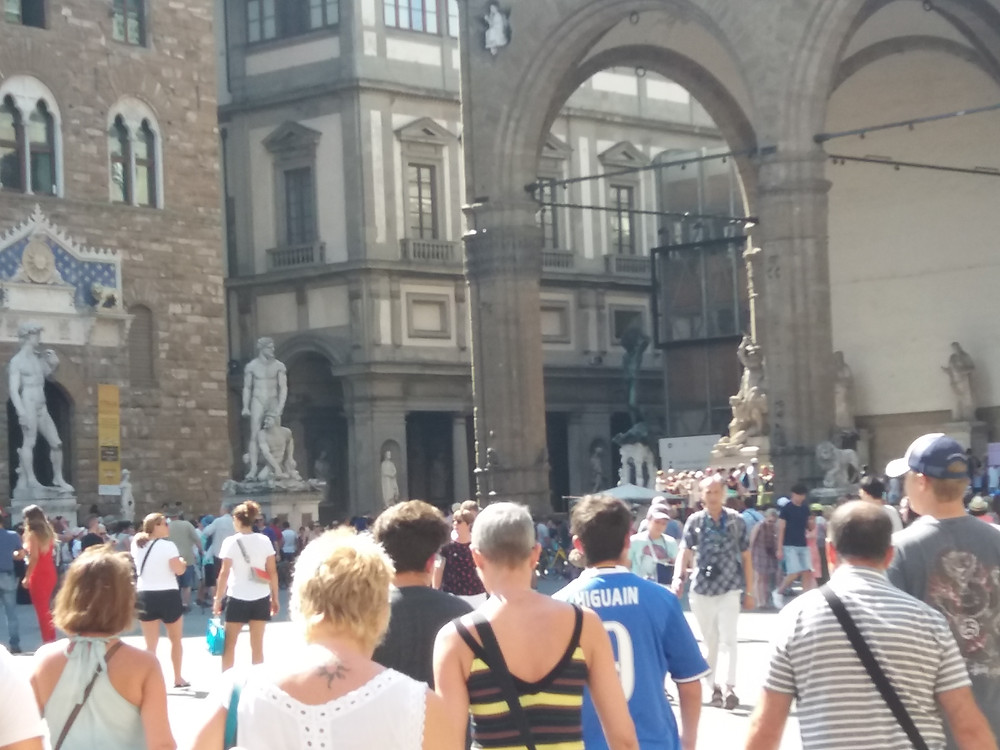 Renaissance Florence Tourists Rinascimento Firenze Turisti