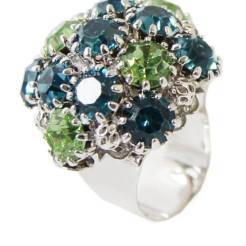 Crystal Dome CapriB Peridot in White Gold