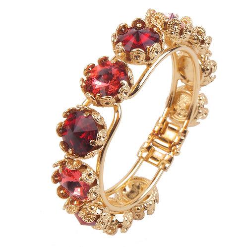 Over the Top Filigree Flower Clasp Bracelet
