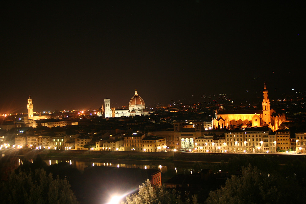 Florence by night view from Piazzale Michelangelo