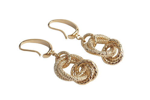 Spiga Ring Earrings in gold