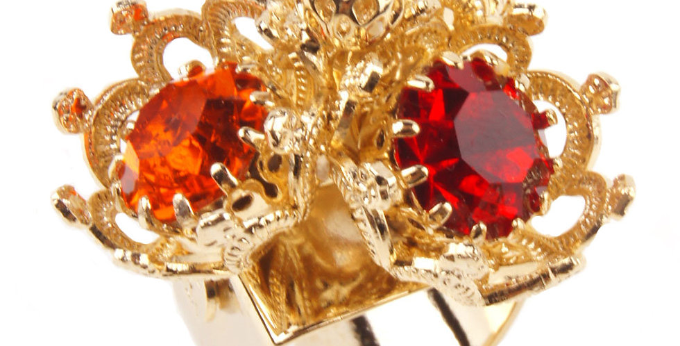 Rounded Filigree Crown in Trio of Crystals Siam Sun LtSiam