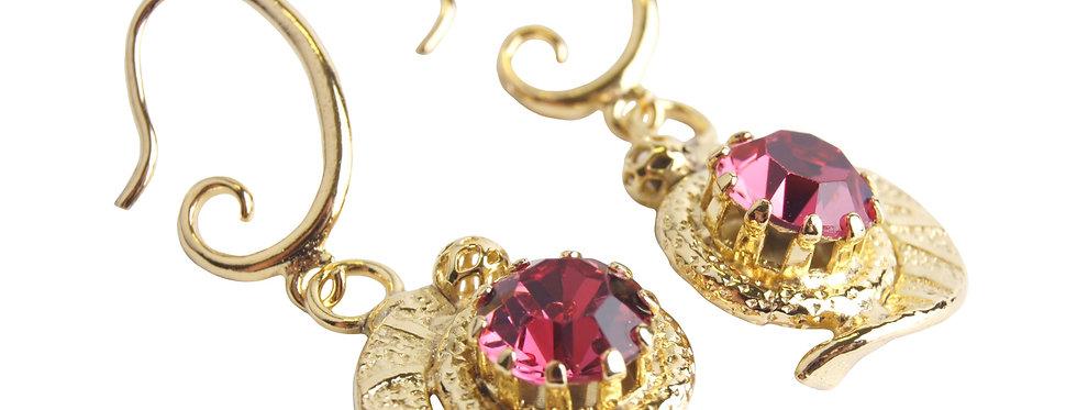 Infinity Petite earrings in Pink