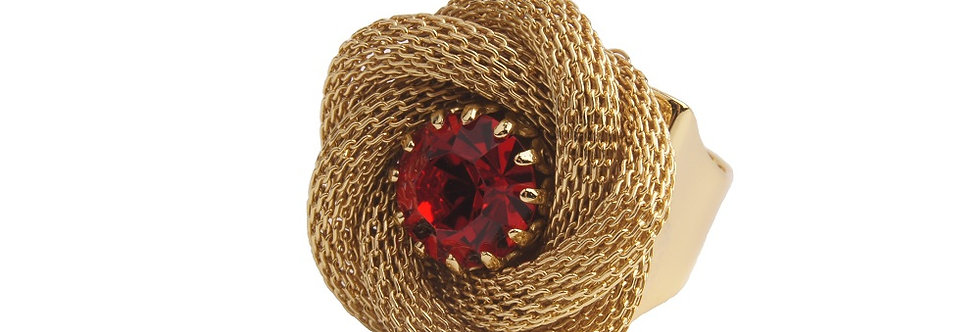 Rose Bud Chain Maille Ring LtSiam