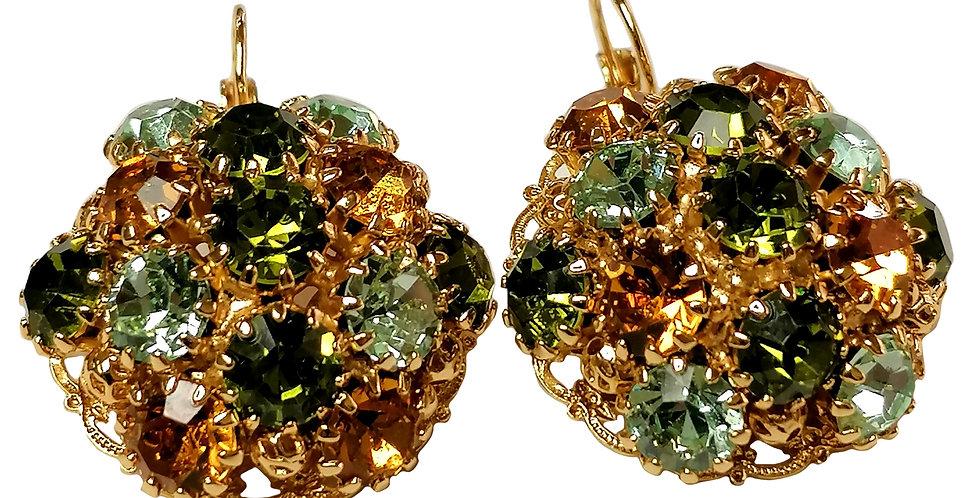 Crystal Dome Earrings in Oli_Top_Chrysolite