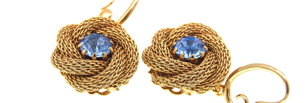 Small Rose Chain Maille earrings