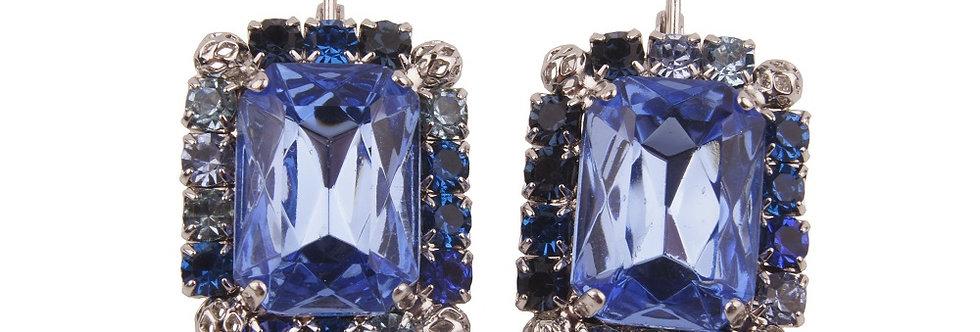 Dew Drop Earrings hook on blues filigree spheres
