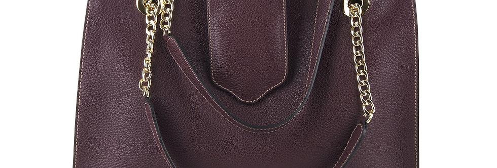 Onda Bordeaux Genuine leather shopper handbag