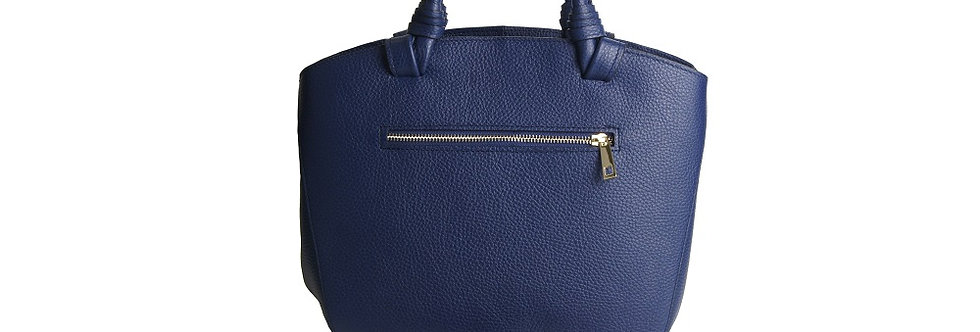 """Magda"" Tote Handbag with wrapped handles"