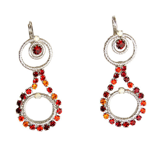 Pendant Circle delight hook on earrings red