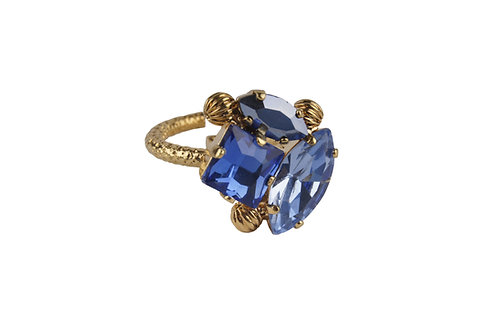 Square and Navette Dew Drop Ring Sapphire_LtSapphire_SkyBlueAB