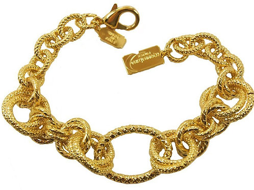 Spiga ring element bracelet in gold