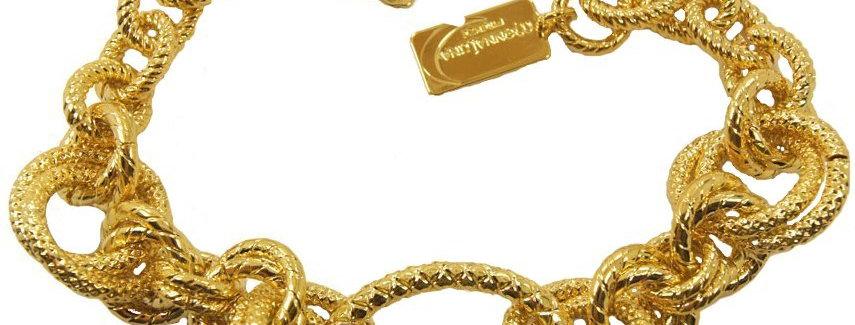 Spiga ring element bracelet in gold