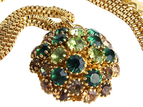 Large pendant necklace of Crystal Dome collection in Em_Per_SmTop