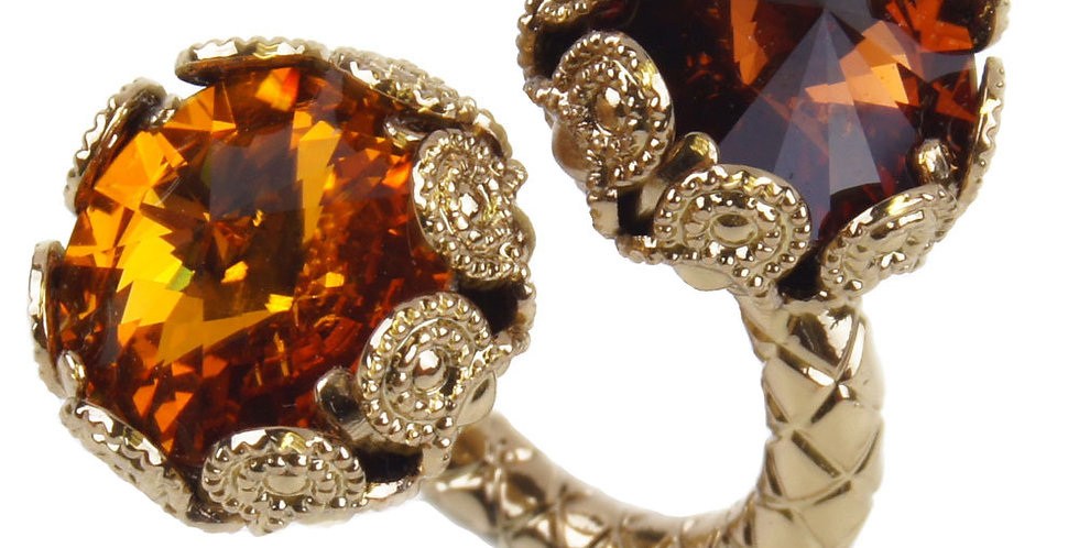 Filigree Contrarié Crown Ring Topaz Smoked Topaz