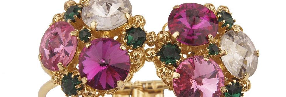 Kaleidoscope Clasp bracelet SmEm_Fuc_Ros_Cry