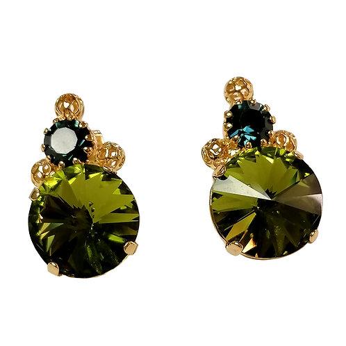 Kaleidoscope Earrings SmMontB_Olivina