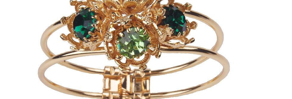 Four Crown Bezel Clasp Bracelet