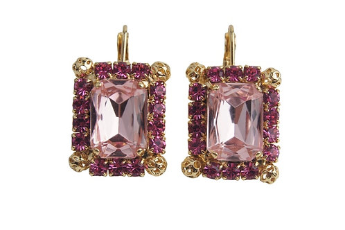 WS DewDrop Rectangular Collection Earrings Small
