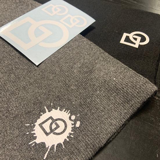 2 -Byte hats and sticker sheet