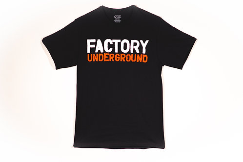 Factory Underground Shirt with Red/White Logo