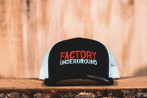 Factory Underground Snapback with White Mesh