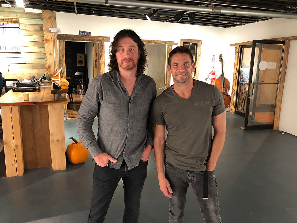 Ethan Isaac with 98 Degrees' Jeff Timmons