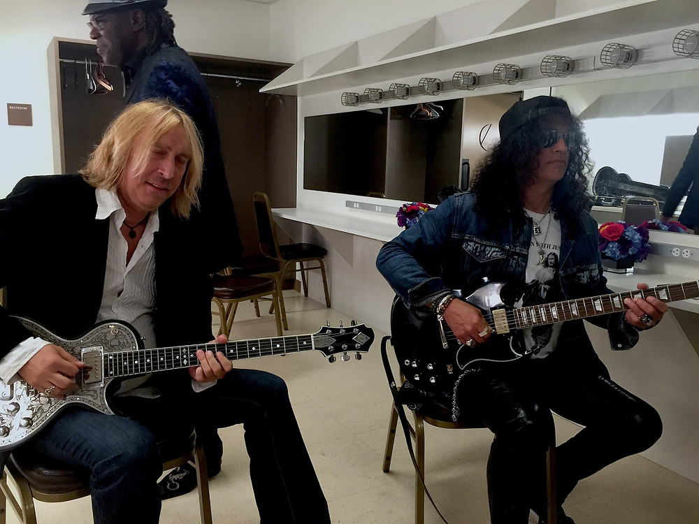 Slash and Paul Nelson Backstage at BB King Tribute