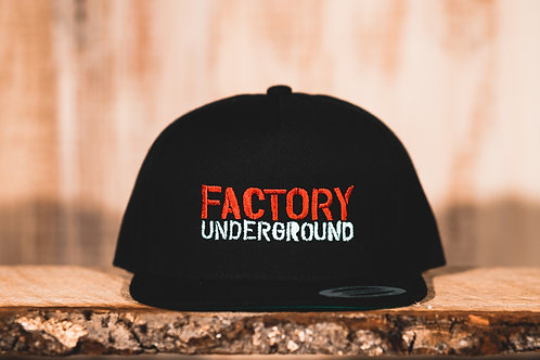 Factory Underground Hat (Black with Red/White Logo)