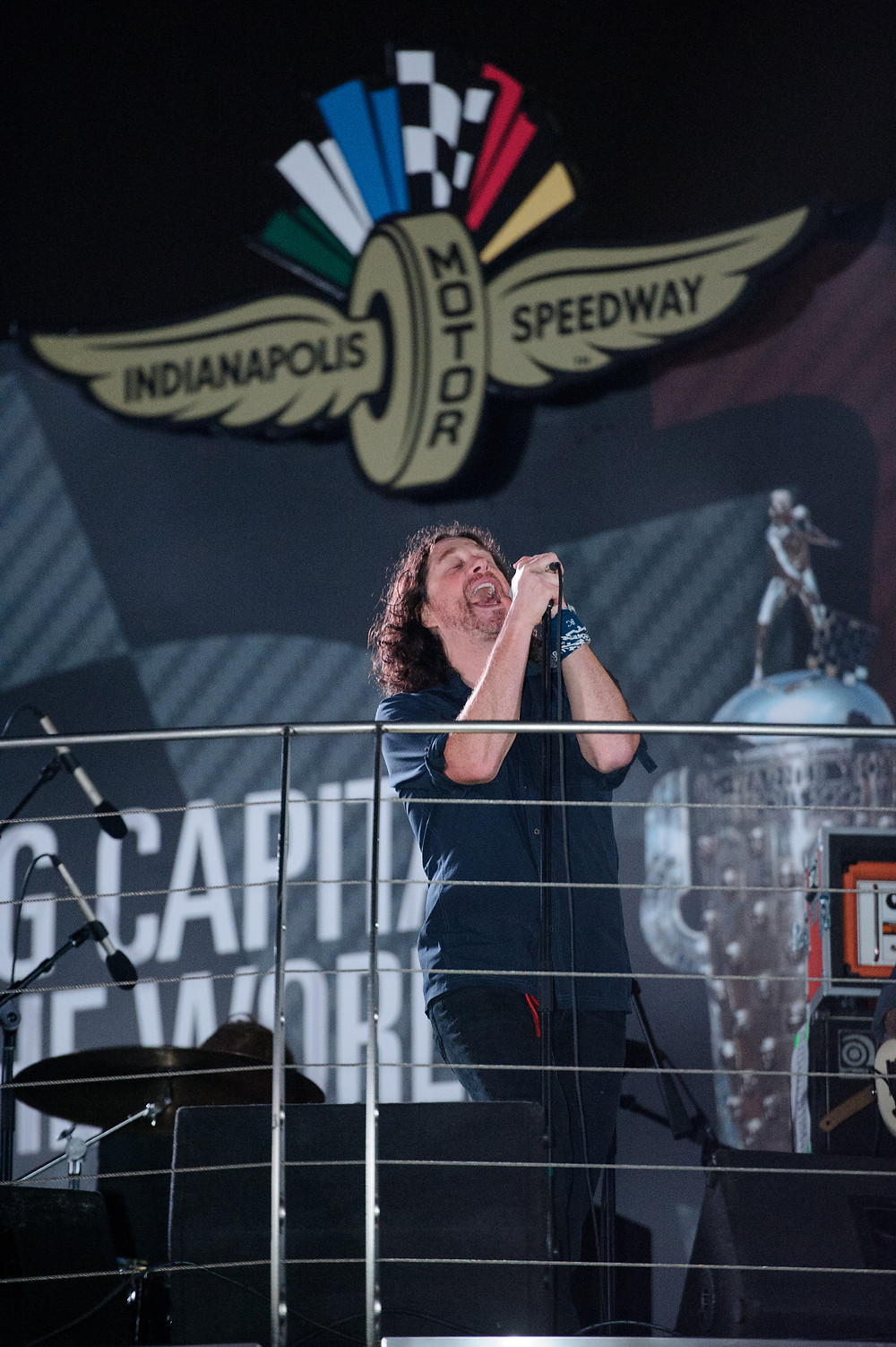 Edisun performs at the Indianapolis Motor Speedway for the Red Bull Air Race 2016