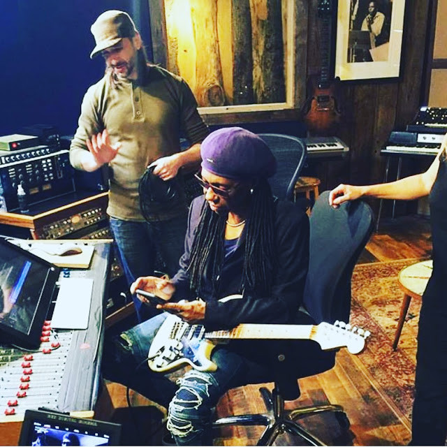 Kenny Cash with Nile Rodgers at Factory Underground Studio