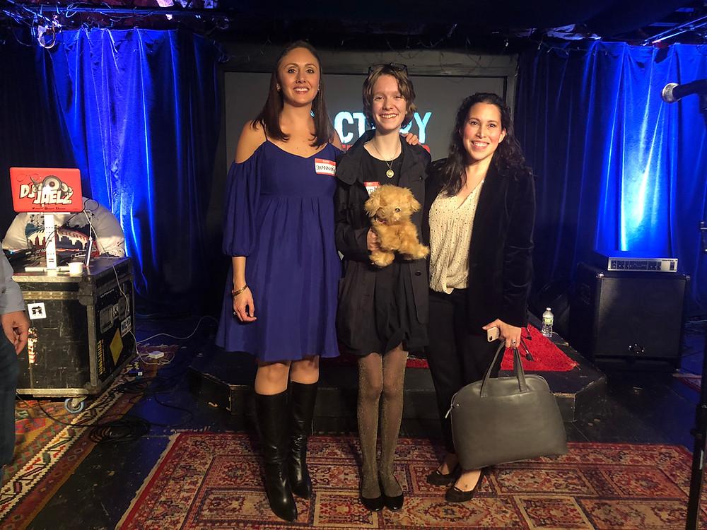 Winners Shannon Malkin Daniels, Blythe Serrano, and Nydia Shipman at Factory Underground Studio