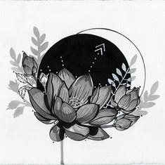 Flower Full Moon Eclipse