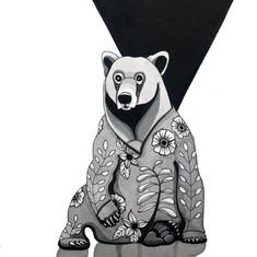 Bear in Floral Pajamas