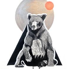 Bear Under a Copper Moon