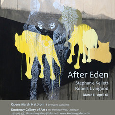Poster for After Eden exhibition at Kootenay Art Gallery