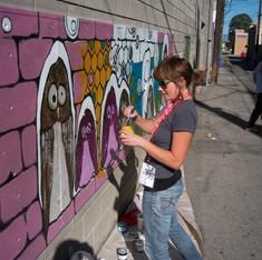 Hooters on High - artist in progress