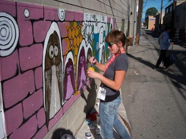 'Hooters on High' artist in progress