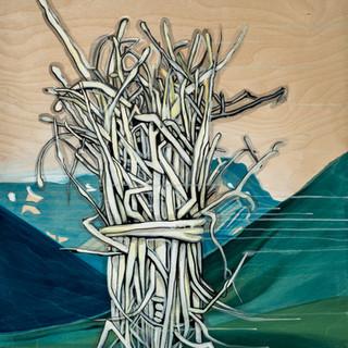 Rewilding: Fire Starter paintings
