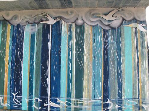 'Coyote Falls in Love with Rain' rain detail