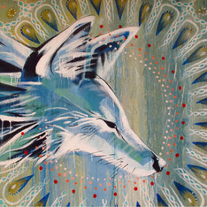 Coyote Falls in Love with Rain - detail